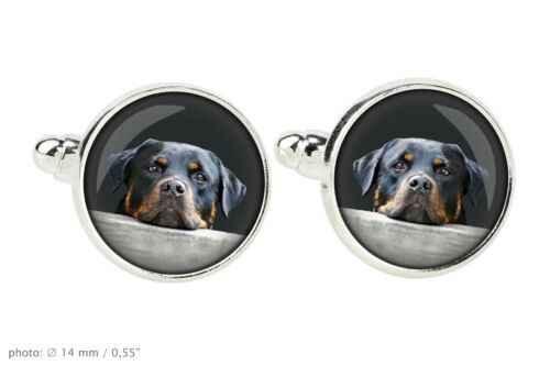 Rottweiler Jewelry for dog lovers.Cufflinks and tie pin.Photo jewelry.UK
