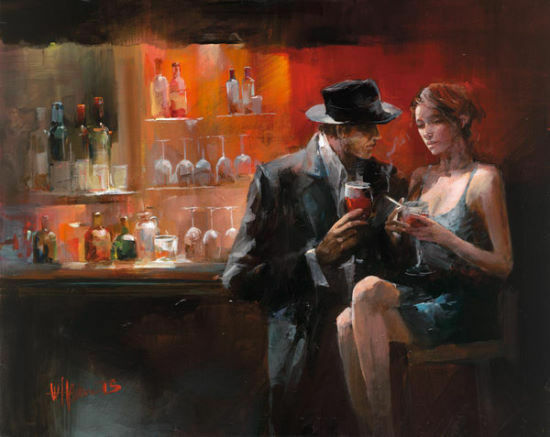 Willem Haenraets  Evening In the bar I terminé-image 60x80 la fresque
