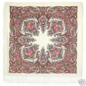 1720-2-authentique-Pavlovo-Posad-Chale-100-laine-125x125cm-russe-foulard-wrap-49-034