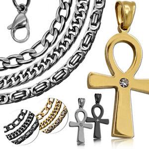 Zarte-Halskette-Kettenanhaenger-Kreuz-Anch-Damenschmuck-Kette-Agyptisches-Zeichen