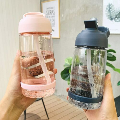 Fashion Kids Girls Children Drinking Water Milk Bottle Straw Bottle