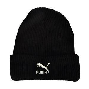 777aa63a16a Puma Archive Logo Black Unisex Adults Beanie Docker Hat 021290 01 ...