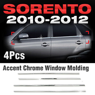 Chrome Window Under Trim Sill Molding Set A914 Fit 2010-2012 Kia Sorento R