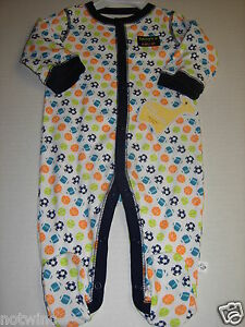 bb4502cb1543 First Moments Infant Baby Boy s Sleeper Pajamas Daddy s MVP Sports ...