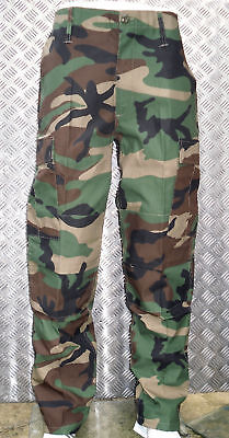"""Woodland Camouflage Military Style Combat / Cargo Camo Trousers - 22""""-26"""" - New"""