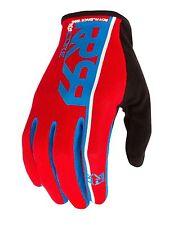 100/% Celium Gloves Legacy Red Mountain Bike Enduro Trail MTB Full Finger Mens