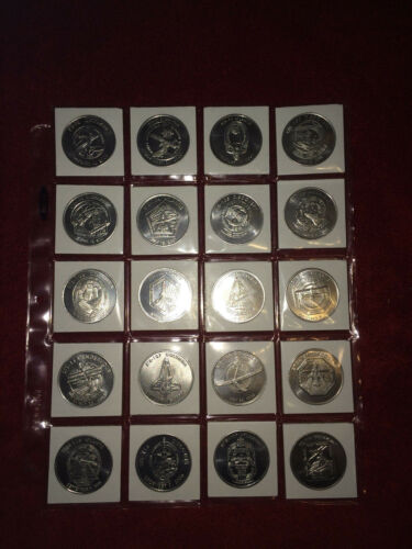 NASA SPACE SHUTTLE COMMEMORATIVE COIN COLLECTION  NEW KIT 6 FLIGHTS 100-119