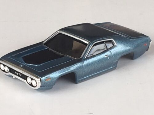Steel Xtraction 71 Plymouth GTX HO Slot Car Body Fit Old Aurora AFX Mag Traction