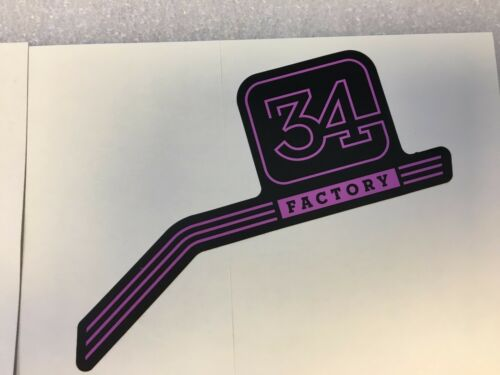 Pink Left /& Right Decals Set 34mm Sticker FOX Factory Series Fork 34 Purple