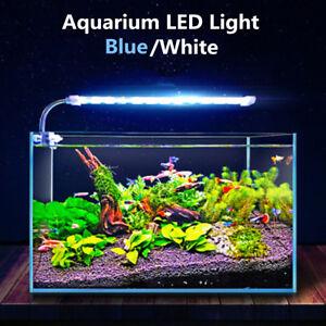 4 6 10w Aquarium Fish Tank Led Light Bar Blue White Water Plant Grow