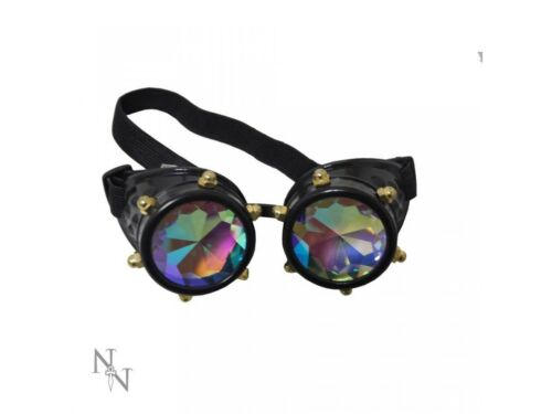 Nemesis Crystal Vision or Industrial Gaze Steampunk Gothic Biker Goth Goggles
