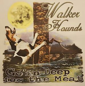 WALKER HOUNDS Go In Deep For The Meat Coon Hunter Hunting Dog T-Shirt