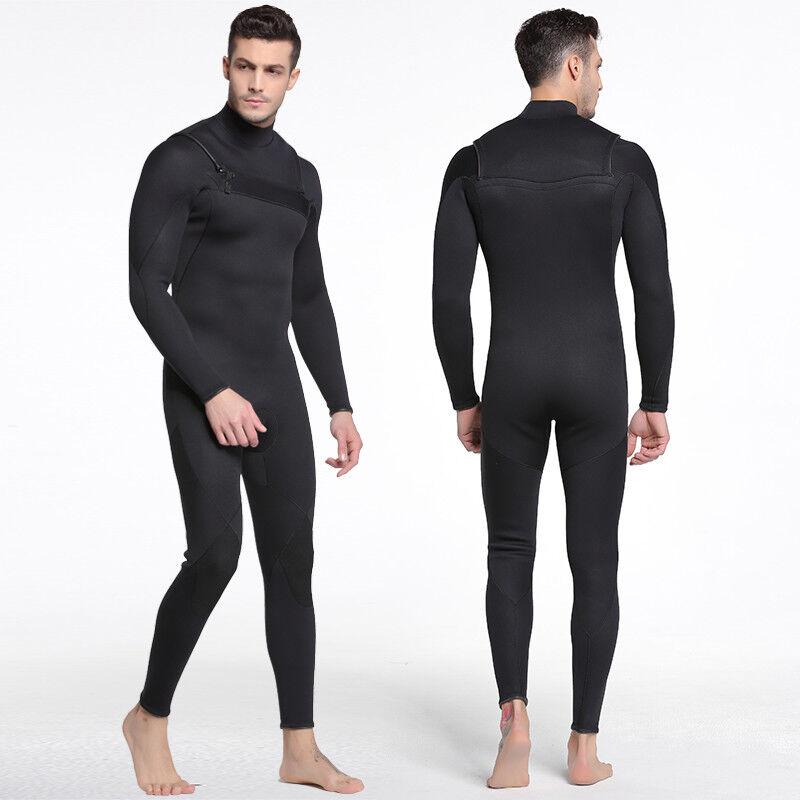 3mm  Neoprene Men Winter Warm Surfing Long Sleeve Scuba Suit Full Body Swimsuit  hot sales