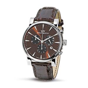 Orologio-PHILIP-WATCH-mod-WALES-ref-R8271693055-Uomo-chrono-in-pelle-marrone