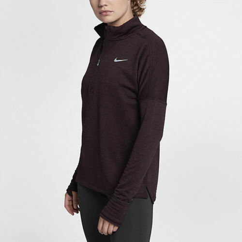 9439d405 Women's Nike Therma Element Zip Long-sleeve Top Running Size Small S Purple  for sale online | eBay