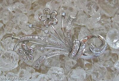 Nachdenklich Diamantbrosche Brosche Mit Diamant In 750 Gold Diamond Damen L.50 Mm Exquisite (In) Verarbeitung
