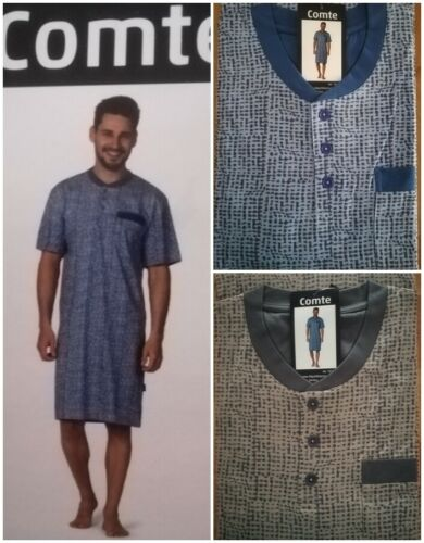 Comte Herren Nachthemd 100/% Baumwolle Single Jersey  48 50  52   54   56  58