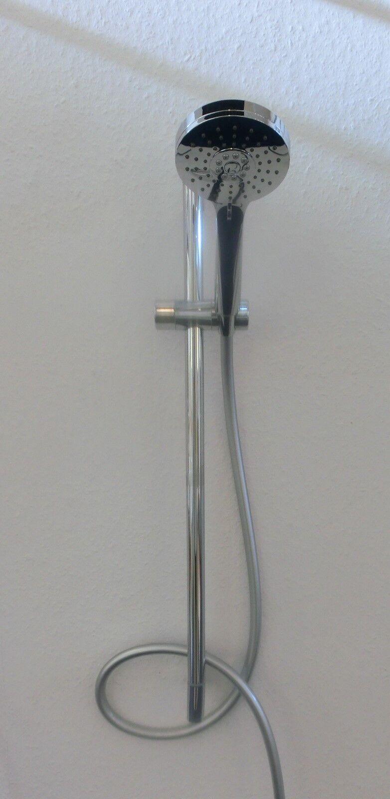 Gessi Emporio Duschgarnitur chrom mit Antikalkbrause, Brausestangenset 47249