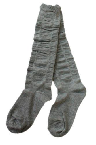 Kids Girls Knee Slough Welly Socks Black Grey Red Navy Pink Age 3 4 5 6 7 8