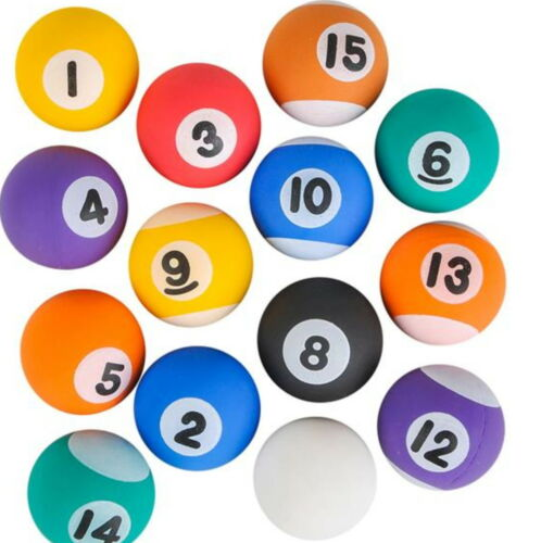 "1500 Super Pool Ball Bouncy Party 1"" Birthday Superballs New Football Balls I"