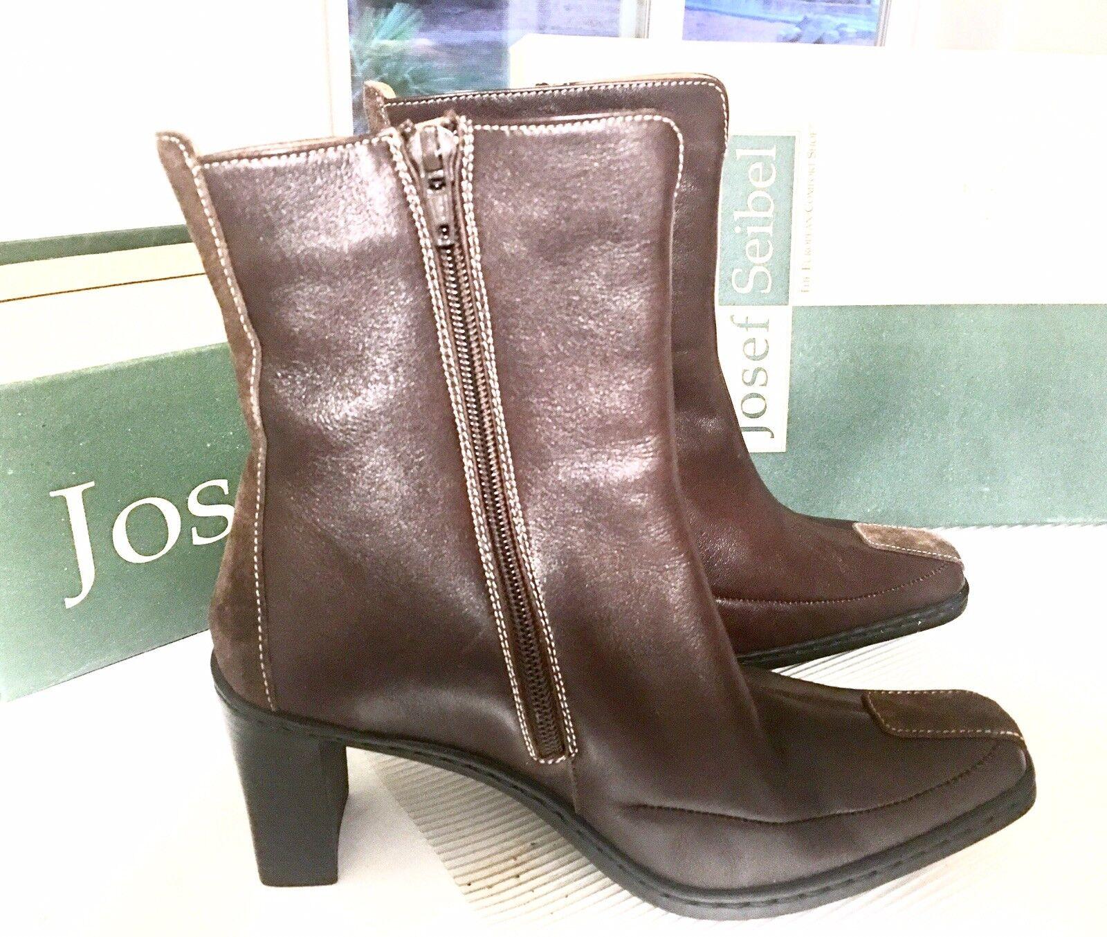 Josef Seibel donna Leather stivali Dimensione 6 1 2 (Narrow) Ankle stivali New