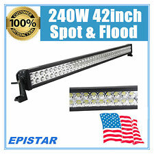 42inch 240W EPISTAR LED LIGHT BAR WORK COMBO DRIVING FOG OFFROAD TRACTOR 300W