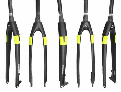 26 27.5 29  Full Carbon UD Fiber Fork  Bike Rigid Disc Brake Fork Tapered Yellow  buy 100% authentic quality