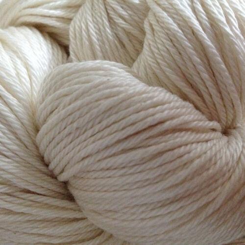 Mercerized 100/% Pima Cotton Yarn Knitting Undyed 10 Skeins Weaving Crochet