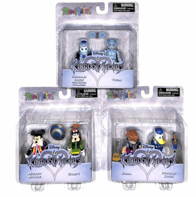 Sora Mickey Donald 6 Figures Minimates Kingdom Hearts Ser1 Set 3x 2-Packs