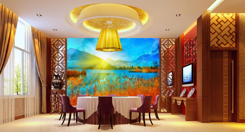 3D Sun Plants Hills 7 Wall Paper Murals Wall Print Wall Wallpaper Mural AU Lemon