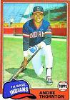 1981 Topps Andre Thornton #388 Baseball Card