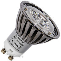 Cree LED GU10 Light Bulb Warm White 4W High Power 35 Watt Light Out Put New