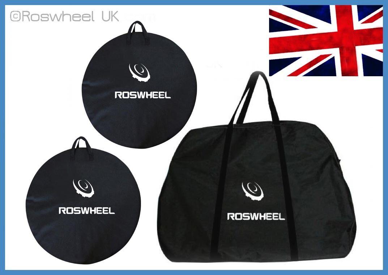 Vélo de voyage transport cadre sac roue sac cadre cycle vélo boîte étui bagage set uk a91157