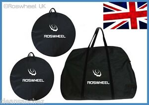 BIKE-TRAVEL-TRANSPORT-FRAME-WHEEL-BAG-cycle-bicycle-box-case-luggage-set-UK