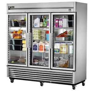 image is loading true t 72g ld commercial reach in glass - True Commercial Refrigerator
