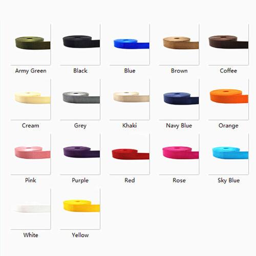 "1/"" High Quality Strap Nylon Webbing Knapsack Strapping Sewing Bag Belt Pink"