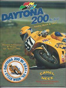 Vintage Daytona 200 Program 1992 Superbike Supercross Race By Honda Like New