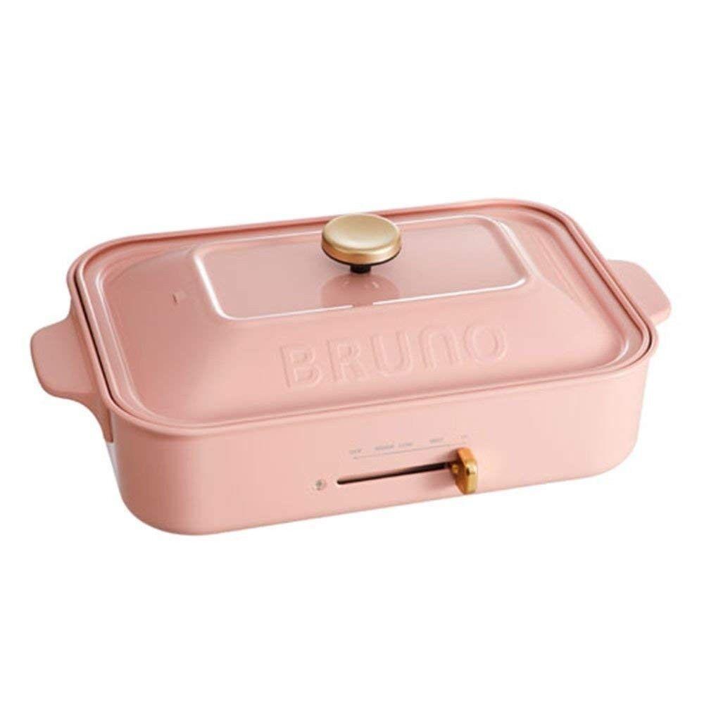 Bcouriro Compact Plaque Chauffante Plat & Takoyaki & Poêle & Multi Assiette Rose