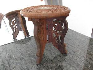Stable Table Bois Poupee Pliante/table Decoration Incrustee De Nacre/ivoirine Performance Fiable