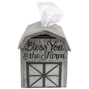Bless You And The Farm Barn Shaped Tissue Box Cover Ebay