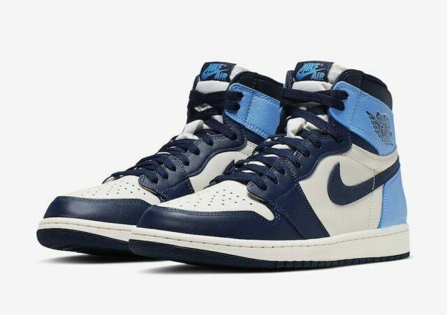 Nike Air Jordan 1 Retro High OG Obsidian UNC Size 10 Deadstock