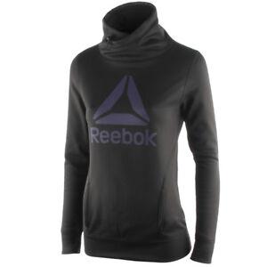Ladies Women/'s New Reebok Hoody Hooded Sweater Hoodie Jumper Sweatshirt Jacket