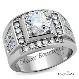 MEN-039-S-4-50-CT-ROUND-CUT-SIMULATED-DIAMOND-SILVER-STAINLESS-STEEL-RING-SIZE-8-14