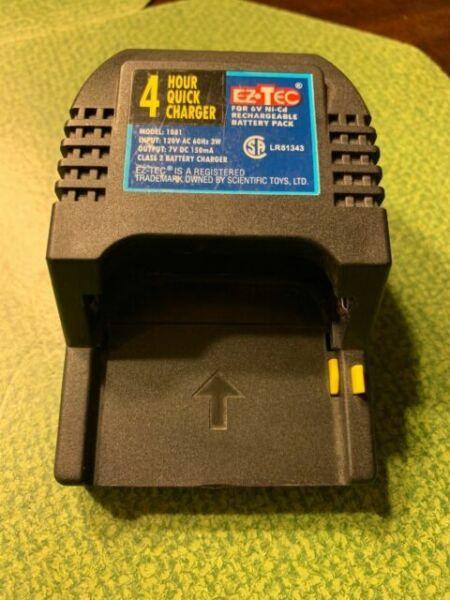 EZTEC 4 Hour Quick Charger 6V Ni-Cd Charger /& Battery Pack EZ TEC R//C RC