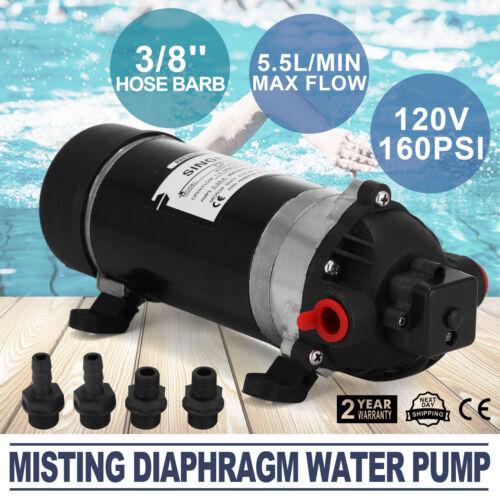 110-120V 160PSI Membranpumpe Wasserpumpe 1.0A 1.2GPM Camping 5.5L/min