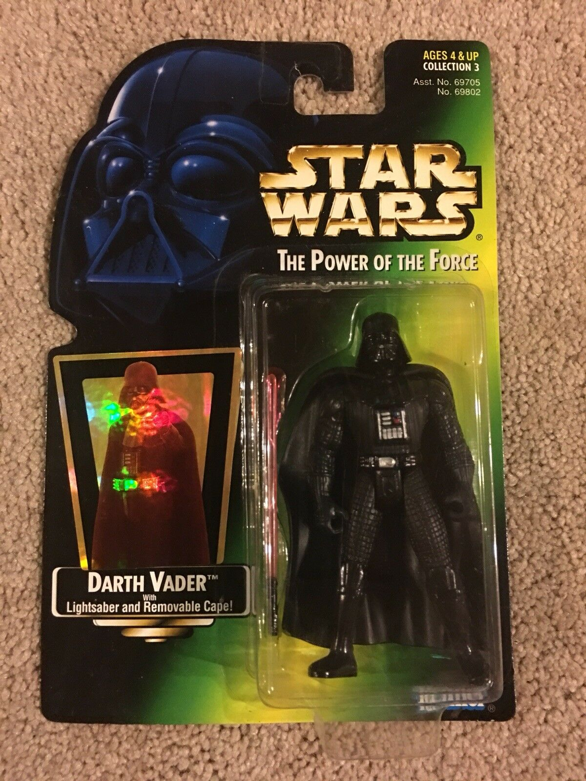 BRAND NEW 1997 DARTH VADER Star Wars Power of the Force action figure free ship