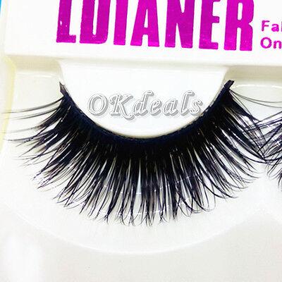 1 Pairs Natural Eye Lashes Makeup Handmade Fashion Thick Fake False Eyelashes mn