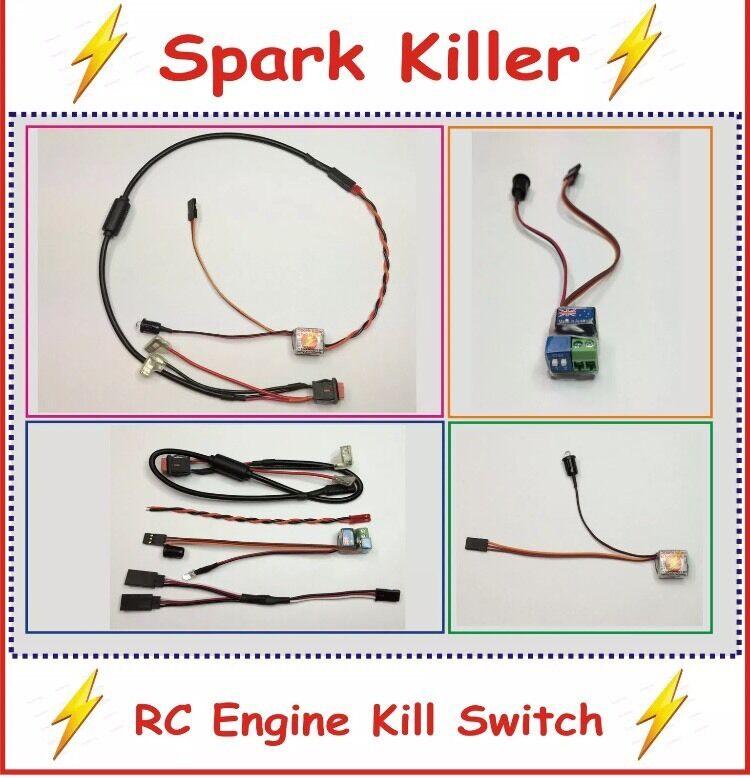 1/5 Spark Killer RC Engine Kill Switch Kit For Baja, Rovan, Losi, MCD, FG.