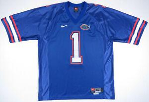 NWOT-Vintage-90s-Florida-Gators-UF-Nike-Sewn-NCAA-Football-Blue-Mens-1-Jersey