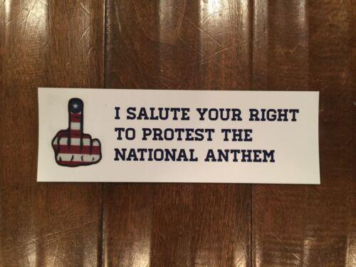 Patriotic National Anthem protest//Middle Finger Sticker